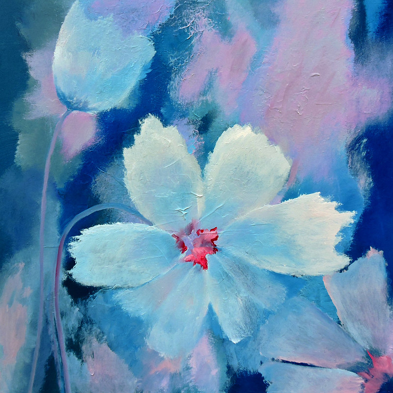 Oil painting White Flowers by Svetlana Barker
