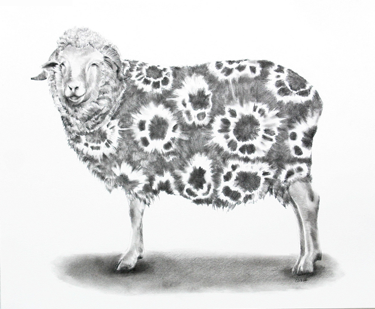 Drawing Dyed in the Wool by Ellen Cornett