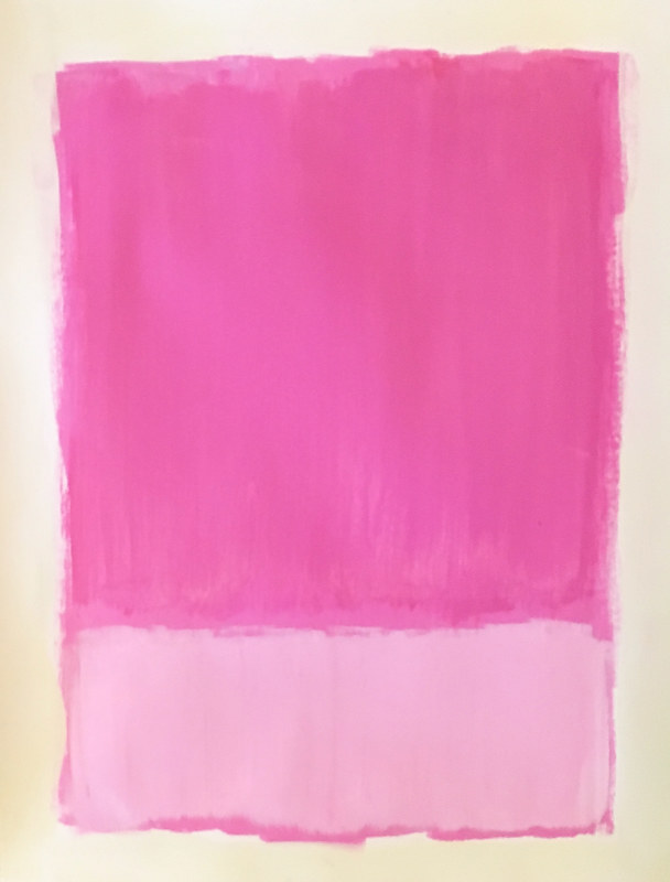 Acrylic painting Hot Pink: Color Study by Sarah Trundle