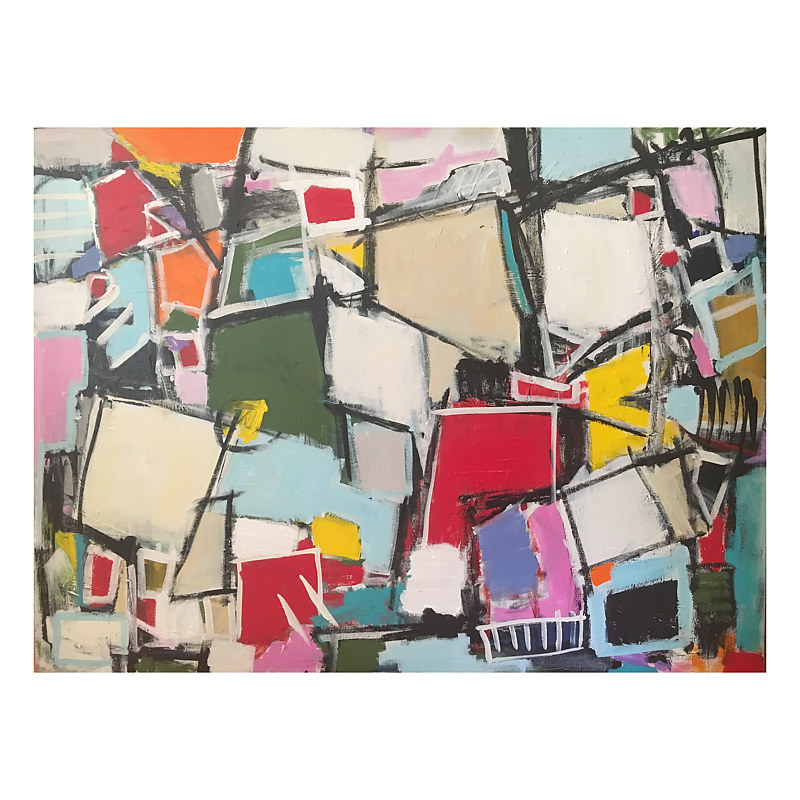 Acrylic painting Puzzled by Sarah Trundle