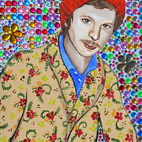 Acrylic painting Michael Cera by Amber N Petersen