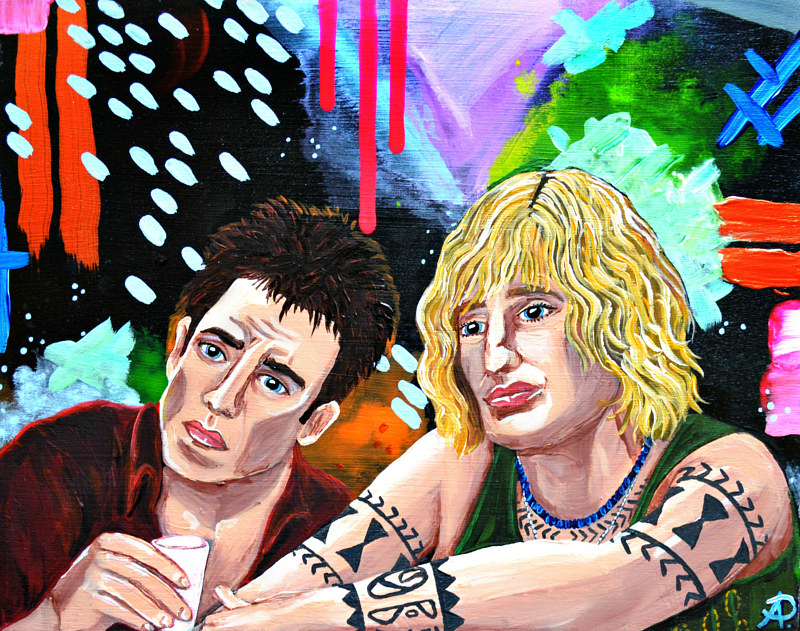 Acrylic painting Zoolander by Amber N Petersen