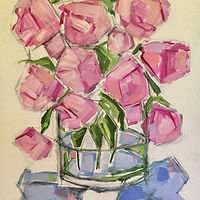 Acrylic painting And Even More Peonies by Sarah Trundle