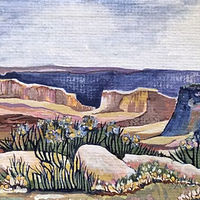 Acrylic painting Canyon Lands by Melissa Kenyon Mcintyre