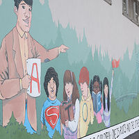 Final Mural - Astor School Mural by Sara Kaltwasser