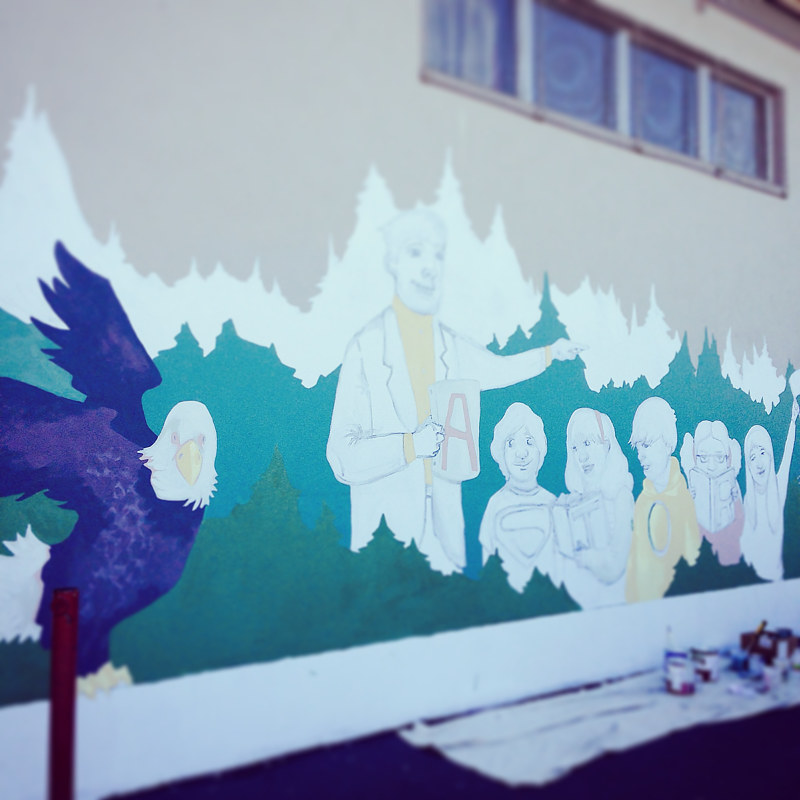 Astor School Mural by Sara Kaltwasser