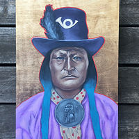 Acrylic painting Bird Chief  by Stuart  Sampson