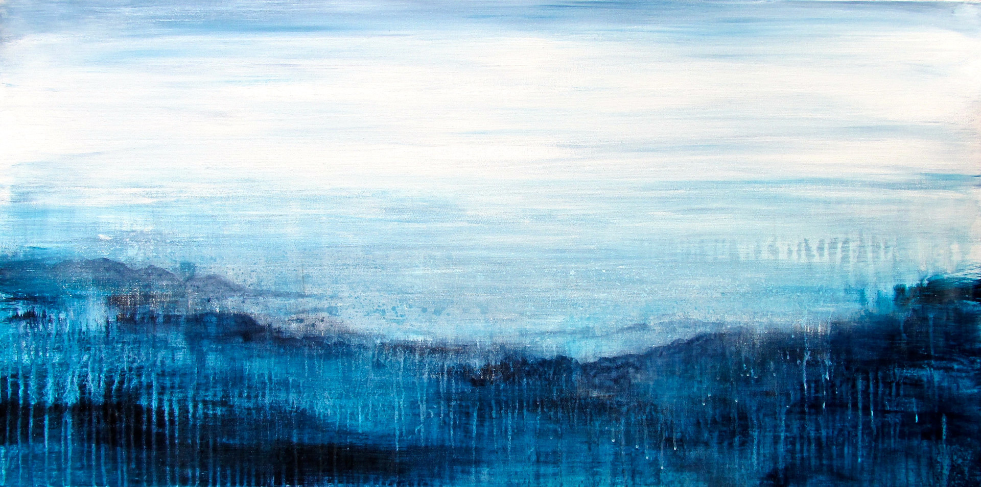 Acrylic painting White Nights by Laura Spring