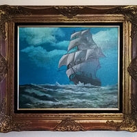 Oil painting Classic Sailing vessel 20x25 Oil Painting by Frans Geerlings