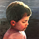Oil painting Portrait of Joey by Elizabeth4361 Medeiros