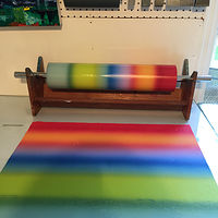 blended roll for 1st run with printed run on Hosho paper by Cathie Crawford
