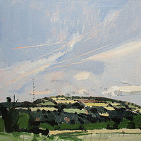 Acrylic painting Seyer Line Hill by Harry Stooshinoff