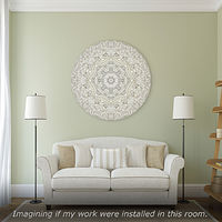 "Print Virtual Room - Mandala ""Celestial Radiance"" by John Hovig"