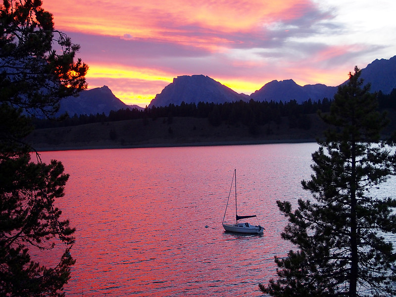 Grand Tetons at Sunset by Ann Williams