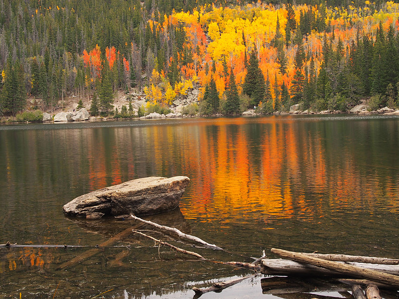 Fall over the Rocky Lake by Ann Williams