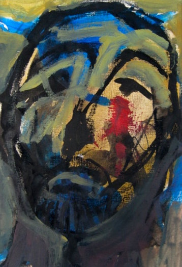 Acrylic painting Man of Sorrows by Kiki Mcgrath
