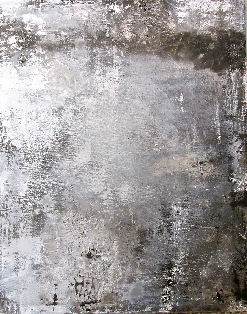 Acrylic painting The Imprints of Time 3 by Laura Spring
