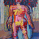 Acrylic painting Standing Nude (Big Hair)  by Gary Jenkins