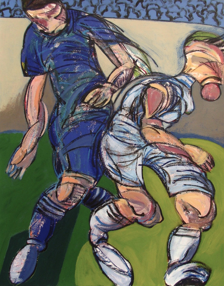 Acrylic painting Study for Soccer Players  by Gary Jenkins