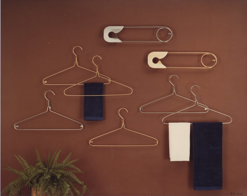 Hangers and Safety Pins (wall)  by Linnie (Victoria) Aikens Lindsay