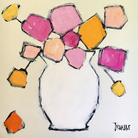 Acrylic painting White Vase by Sarah Trundle