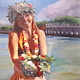 Oil painting Welcome to Lahaina 16x20, flat/rolled by Pamela Neswald