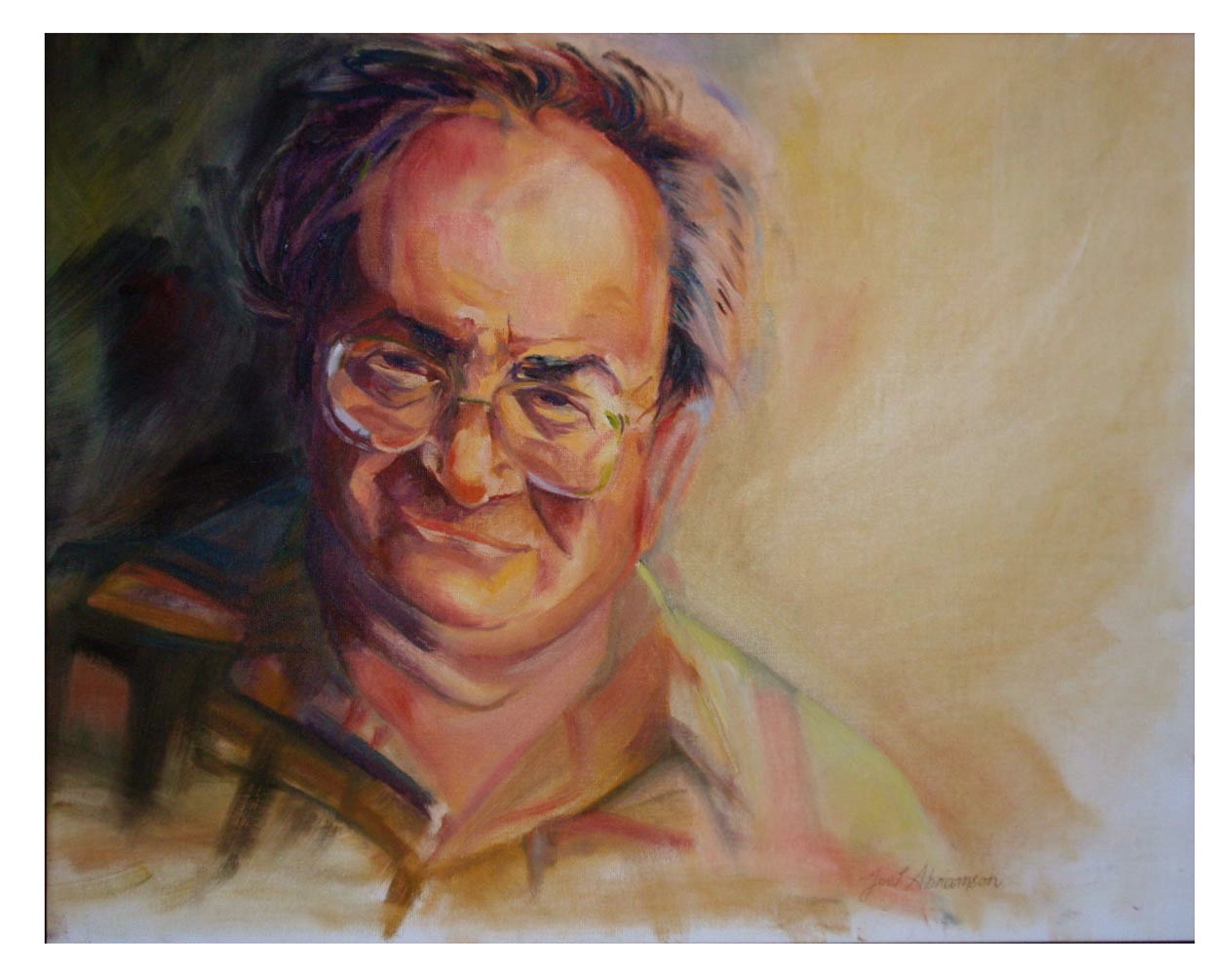 Oil painting Leonard by Joel Abramson