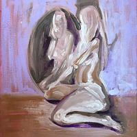 Oil painting Self Reflection  by Pamela Neswald
