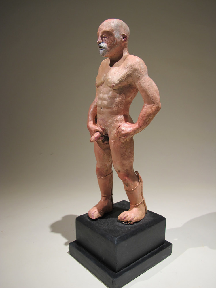 Artist's Self-Portrait,. 2003 Oil on terra cotta 10 x 4 x 3 in (12) by David  Maxim