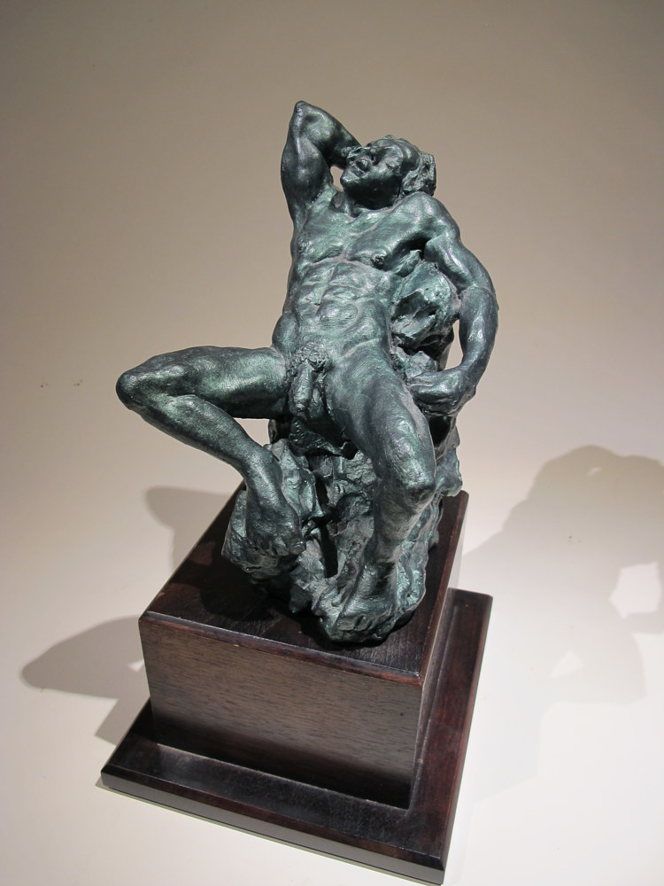 Faun (after the Barberini Faun). 2001 Bronze, cast #3, 2003 9.5 x 7.5 x 6 in (8) by David  Maxim