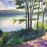 Watercolor Hiking Trail, NY by Betty Ann  Medeiros