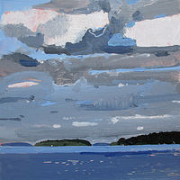 Acrylic painting Interlude, Rice Lake by Harry Stooshinoff
