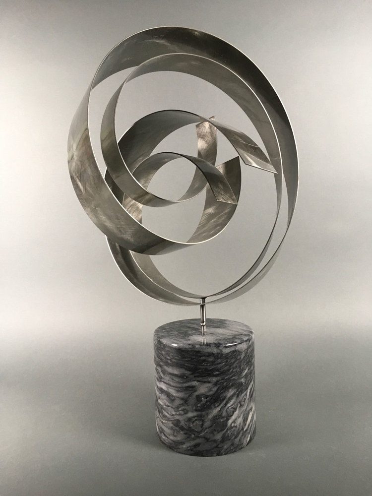 Silver Swirl (table top) by Linnie (Victoria) Aikens Lindsay