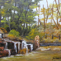 Oil painting Terrell Park,Beaumont,Texas by Barbara Haviland