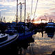 Santa Barbara, CA Sunrise -- Harbor by Linnie (Victoria) Aikens Lindsay