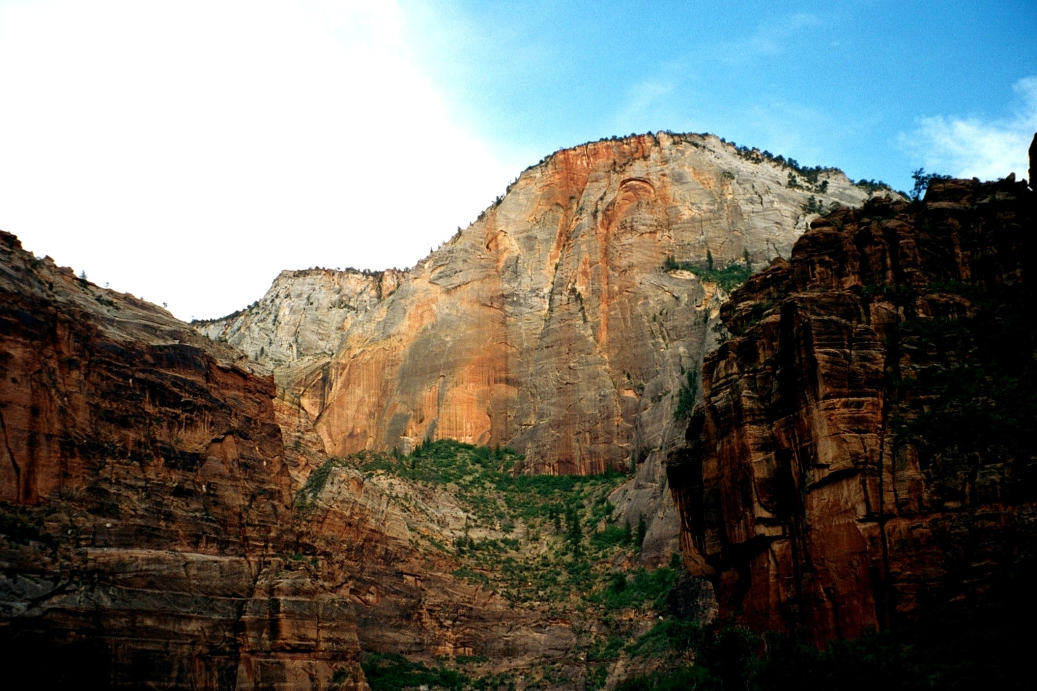 Zion Nat'l Park—White Throne by Linnie (Victoria) Aikens Lindsay