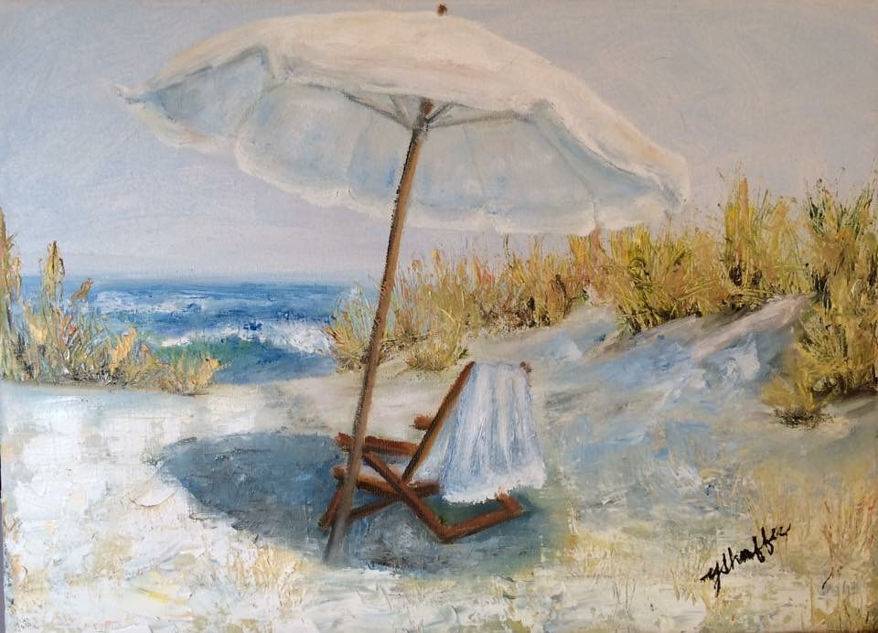 Oil painting Quiet Place in the Dunes by Yvonne Shaffer
