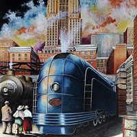 Acrylic painting All Aboard by David Neace