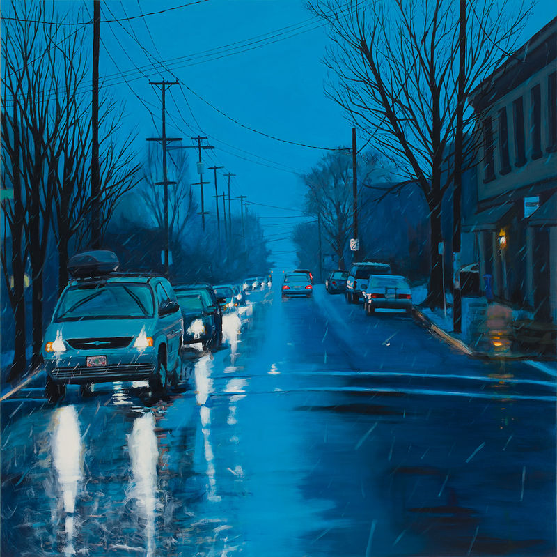 Oil painting Clinton Crossing by Shawn Demarest