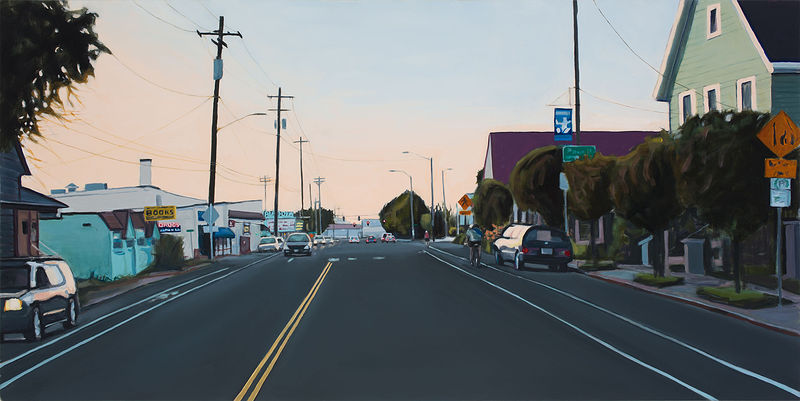 Oil painting SE Milwaukie by Shawn Demarest