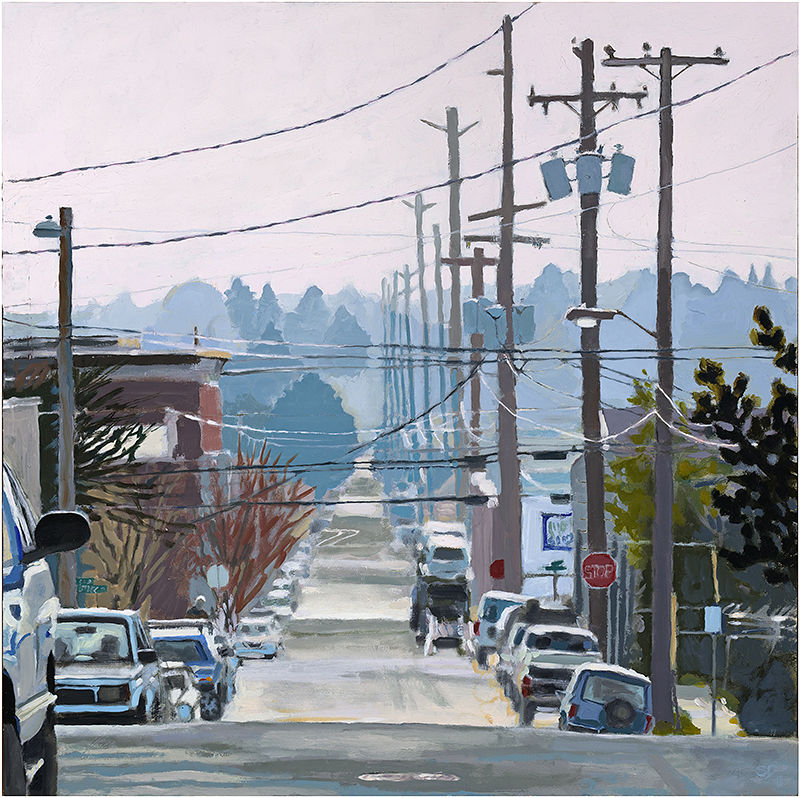 Oil painting SE 10th by Shawn Demarest