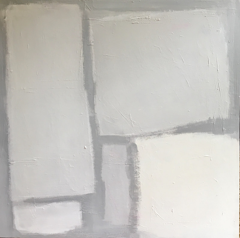 Acrylic painting Shapes In Grey by Sarah Trundle