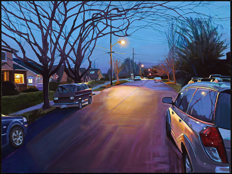 Oil painting ...and then my wheels left the ground by Shawn Demarest