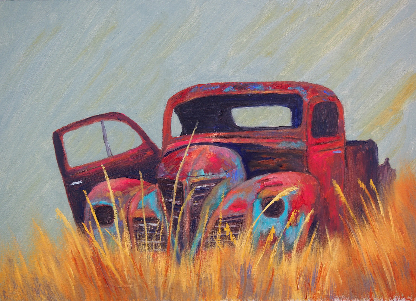 Oil painting Rust in Peace by Brent Ciccone