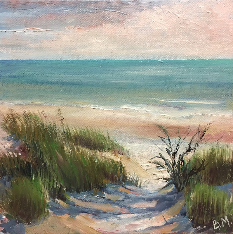 Oil painting Beach Path by Betty Ann  Medeiros