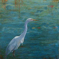 Egret_36x26_Chicago Fire Set by Adam Thomas