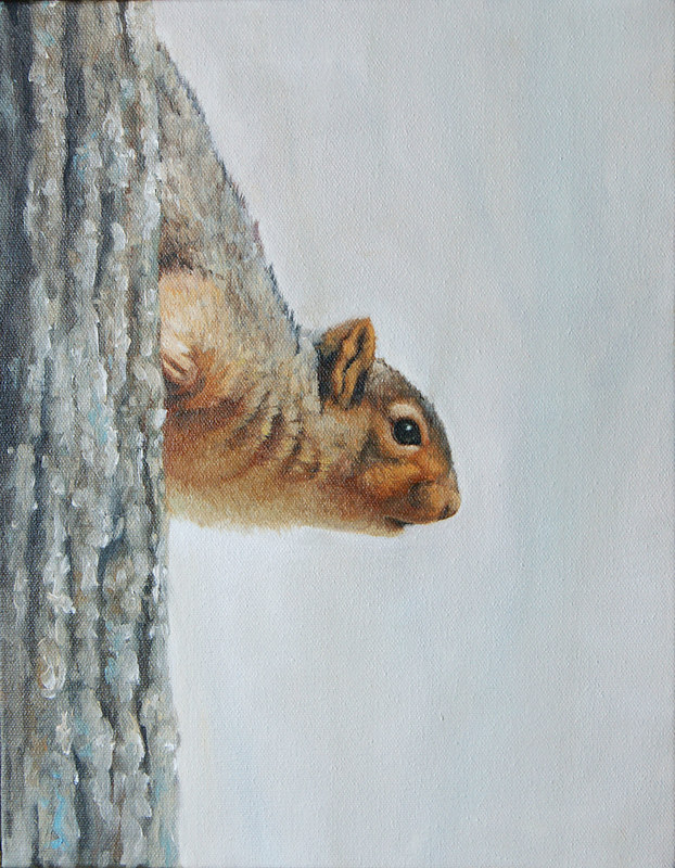 Our Squirrel-20x16 by Adam Thomas