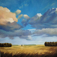 Peaceful Plains_36x36  by Adam Thomas