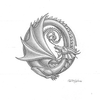 Dragon #0, with shading by Sue Ellen Brown