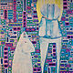 Acrylic painting When I Go Invisible, I Always Bring A dog by Donna Howard